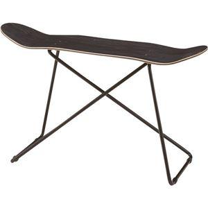 その他 スツール(スケートボード型) 木製/スチール SF-201BK ブラック(黒) ds-1386544