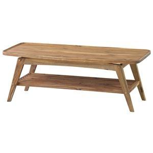 その他 コーヒーテーブル(ヴァルト) 長方形 木製 棚付き NET-615 ds-1387326