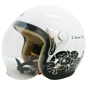 その他 ダムトラックス(DAMMTRAX) ジェットヘルメット CARINA P.WHITE-DOG レディースフリー(57~58cm) ds-1426224