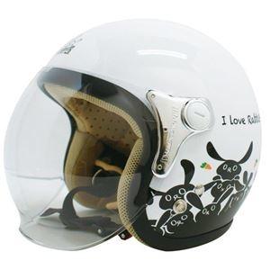 その他 ダムトラックス(DAMMTRAX) ジェットヘルメット CARINA P.WHITE-RABBIT レディースフリー(57~58cm) ds-1426226