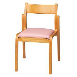 その他 ジョインテックス 会議椅子スタッキングチェア 【肘なしタイプ】 木製 座面:ビニールレザー MF-C4N PK ピンク 【完成品】 ds-1324576