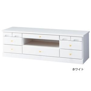 その他 選べる引き出しいっぱいリビングボード(サイドボード) 【幅102cm×高さ32cm】 木製 ホワイト(白) ds-1429302