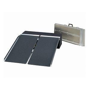 その他 イーストアイ ポータブルスロープ アルミ2折式タイプ(PVSシリーズ) /PVS090 長さ91cm ds-1431399