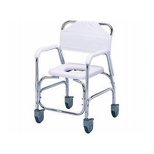 その他 日進医療器 アルミシャワーチェア/ TY535DXE 樹脂製四輪ダブルストッパー ds-1431469
