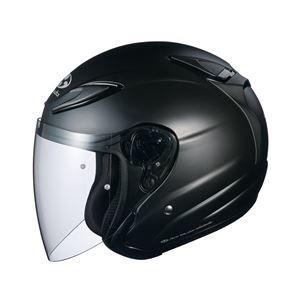 その他 AVAND2 ジェットヘルメット シールド付き フラットブラック L 【バイク用品】 ds-1444213