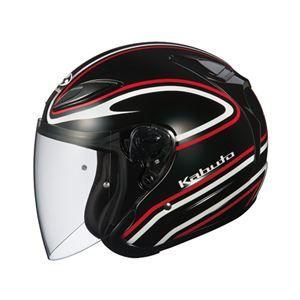 その他 ジェットヘルメット シールド付き AVAND2 STAID ブラックレッド M 【バイク用品】 ds-1444304