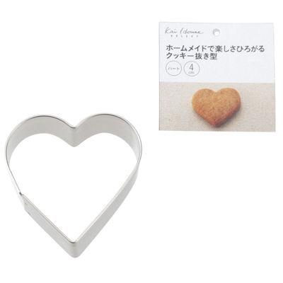 貝印 Kai House Select クッキー抜型 ハート(40mm)【500個セット】 4901601299526