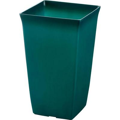 リッチェル 観葉植物鉢 角5号 土容量約1.5L クリアグリーン 約11.9×11.9×H19cm【60個セット】 4973655720530【納期目安:1週間】