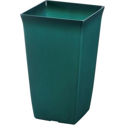 リッチェル 観葉植物鉢 角6号 土容量約2.6L クリアグリーン 約14.2×14.2×H23cm【60個セット】 4973655720639【納期目安:1週間】