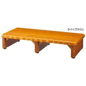 その他 天然木和風玄関台(踏み台) 【4: 幅120cm】 木製(天然木) ライトブラウン ds-1455283