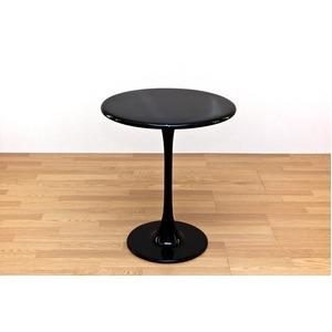 その他 ラウンドテーブル/ハイテーブル 【丸型/直径60cm】 FRP(強化プラスチック)製 ブラック(黒)【代引不可】 ds-1224205