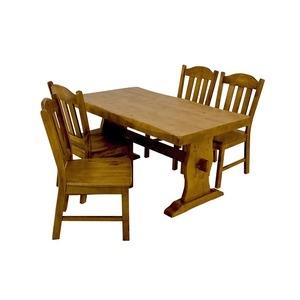 その他 浮造りダイニングチェア(椅子単品) 【2脚入り】 木製(松) 木目調 【代引不可】 ds-1224613