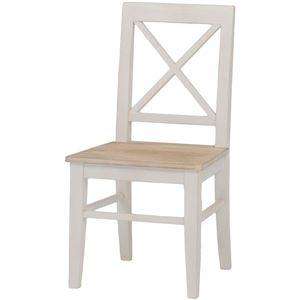 その他 ダイニングチェア/リビングチェア 木製 座面:桐材 アンティーク調 ホワイト(白) 【代引不可】 ds-1314553