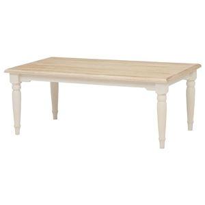 その他 リビングテーブル/ローテーブル 【長方形/幅90cm】 木製 シャビーシック ブロカントシリーズ ホワイト(白) ds-1314681