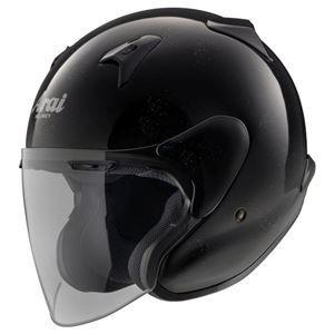 その他 ジェットヘルメット シールド付き MZ-F グラスブラック 57-58 【バイク用品】 ds-1443321