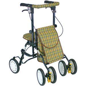 その他 シルバーカー/歩行車/アクティブピッチ 杖立て/反射機能付き 高さ5段階調整可 (歩行補助用品/介護用品) ブラウン ds-1450909