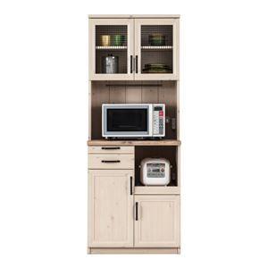 その他 ユーアイ NEO MARCH(マーチ) 食器棚70 天板天然パイン材 K-700HOP【代引不可】 ds-1477508