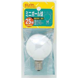 その他 (業務用セット) ELPA ミニボール球 電球 25W E17 G50 ホワイト G-87H(W) 【×25セット】 ds-1483432
