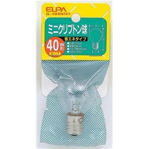 その他 (業務用セット) ELPA ミニクリプトン球 電球 40W形 E17 クリア G-103H(C) 【×30セット】 ds-1485768