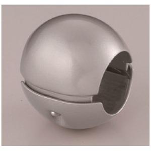 その他 【10個セット】階段手すり滑り止め 『どこでもグリップ』ボール形 亜鉛合金 直径38mm シルバー シロクマ 日本製 ds-1499341