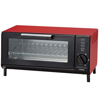 その他 【4個セット】オーブントースター1台(レッド) 2213227