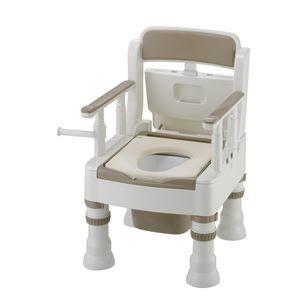 その他 リッチェル 樹脂製ポータブルトイレ ポータブルトイレきらくミニでか(3)MY型アイボリー 45611 ds-1550411
