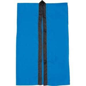 その他 (まとめ)アーテック サテン製はっぴ/法被 【Lサイズ】 ロング丈 袖なし ハチマキ付き ブルー(青) 【×40セット】 ds-1562120