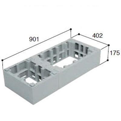城東テクノ ハウスステップオプション アジャスター2段 CUB-6040-H2