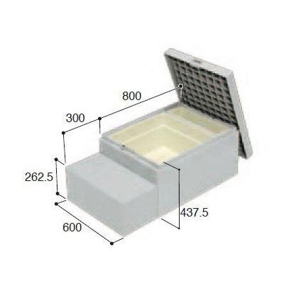 城東テクノ ハウスステップ ボックスタイプ 収納庫付 CUB-A8060S-H1
