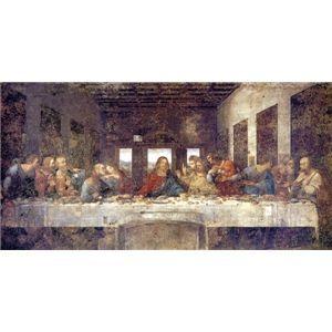 その他 世界の名画シリーズ、プリハード複製画 レオナルド・ダ・ヴィンチ作 「最後の晩餐」(修復後)【代引不可】 ds-193536