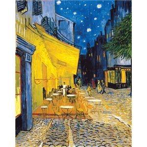 その他 世界の名画シリーズ、プリハード複製画 ヴィンセント・ヴァン・ゴッホ作 「夜のカフェテラス」【代引不可】 ds-193547