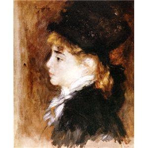 その他 世界の名画シリーズ、プリハード複製画 ピエール・オーギュスト・ルノアール作 「モデルの肖像」【代引不可】 ds-193550