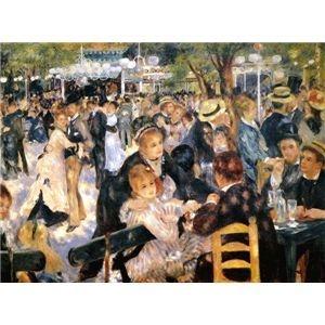 その他 世界の名画シリーズ、プリハード複製画 ピエール・オーギュスト・ルノアール作 「ムーラン・ド・ラ・ギャレット」【代引不可】 ds-193551
