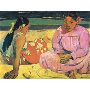 その他 世界の名画シリーズ、プリハード複製画 ポール・ゴーギャン作 「タヒチの女(浜辺にて)」【代引不可】 ds-195173