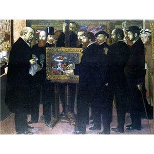 その他 世界の名画シリーズ、プリハード複製画 モーリス・ドニ作 「セザンヌ礼賛」【代引不可】 ds-195178