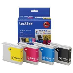その他 (まとめ) ブラザー BROTHER インクカートリッジ お徳用 4色 LC10-4PK 1箱(4個:各色1個) 【×3セット】 ds-1570801