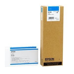 その他 (まとめ) エプソン EPSON PX-P/K3インクカートリッジ シアン 700ml ICC58 1個 【×3セット】 ds-1572068