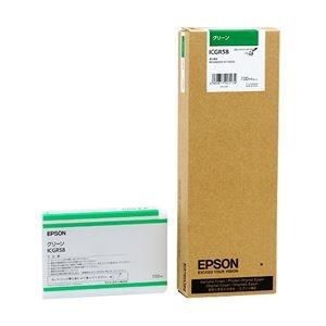 その他 (まとめ) エプソン EPSON PX-P/K3インクカートリッジ グリーン 700ml ICGR58 1個 【×3セット】 ds-1572076