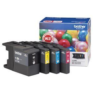 その他 (まとめ) ブラザー BROTHER インクカートリッジ お徳用 4色 大容量 LC17-4PK 1箱(4個:各色1個) 【×3セット】 ds-1573107