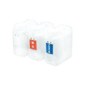 その他 (まとめ)廃液貯蔵容器(広1口タイプ) アルカリ性 青色【×3セット】 ds-1589561