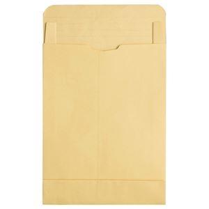 その他 (まとめ) TANOSEE マチ付クラフト大型封筒(幅広) 角0 120g/m2 1パック(50枚) 【×2セット】 ds-1573864