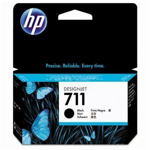 その他 (まとめ) HP711 インクカートリッジ ブラック 38ml 顔料系 CZ129A 1個 【×3セット】 ds-1578415