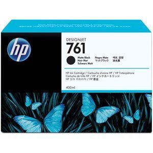 その他 (まとめ) HP761 インクカートリッジ マットブラック 400ml 顔料系 CM991A 1個 【×3セット】 ds-1578450