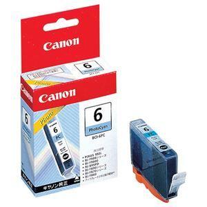 その他 (まとめ) キヤノン Canon インクタンク BCI-6PC フォトシアン 4709A001 1個 【×10セット】 ds-1578700