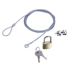 その他 (まとめ) エレコム ノートPC&マウス用セキュリティワイヤーロック ESL-3 1パック 【×5セット】 ds-1578845