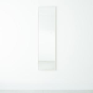 その他 細枠ウォールミラー 幅42cm(ホワイト/白) 天然木/姿見鏡/ワイド/高級感/木製/飛散防止加工/壁掛け/北欧風/日本製/完成品/NK-7 ds-1604142