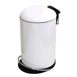 その他 Hailo(ハイロ) ペダルビン トレントトップデザイン ホワイト 16L (ゴミ箱・ダストBOX)60057 ds-1607466