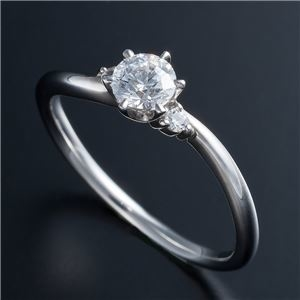 その他 Dカラー・VVS2・EX Pt0.3ct ダイヤリング 両側ダイヤモンド(鑑定書付き) 21号 ds-1608915