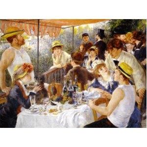 その他 世界の名画シリーズ、プリハード複製画 ピエール・オーギュスト・ルノアール作 「舟遊びをする人々の昼食」(P50号大サイズ版)【代引不可】 ds-1614322