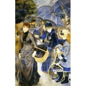 その他 世界の名画シリーズ、プリハード複製画 ピエール・オーギュスト・ルノアール作 「雨傘」【代引不可】 ds-1614323